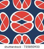 modern geometric pattern design ... | Shutterstock .eps vector #735850933