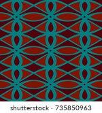 modern geometric pattern design ... | Shutterstock .eps vector #735850963