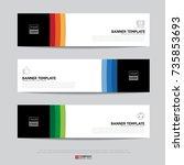 design of flyers  banners ... | Shutterstock .eps vector #735853693