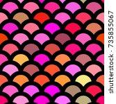 seamless pattern mermaid tail ... | Shutterstock .eps vector #735855067
