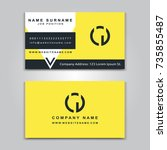 business vector card creative... | Shutterstock .eps vector #735855487