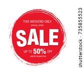 sale banner layout design | Shutterstock .eps vector #735855523