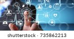 businessman on blurred... | Shutterstock . vector #735862213