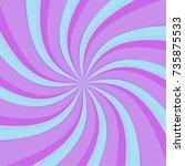 swirl radial pattern... | Shutterstock .eps vector #735875533