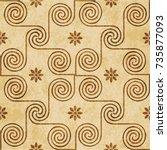 retro brown watercolor texture... | Shutterstock .eps vector #735877093