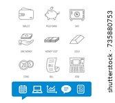 piggy bank  cash money and... | Shutterstock .eps vector #735880753