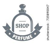 glamour shop logo. vintage... | Shutterstock .eps vector #735890047