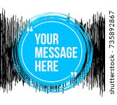 innovative vector quotation... | Shutterstock .eps vector #735892867