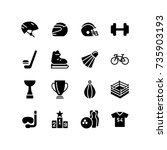 safety helmets and sports icon... | Shutterstock .eps vector #735903193