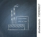 coal power plant icon sketch on ... | Shutterstock .eps vector #735905017