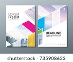 annual report brochure flyer... | Shutterstock .eps vector #735908623