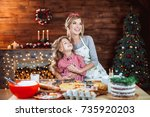 merry christmas and happy...   Shutterstock . vector #735920203