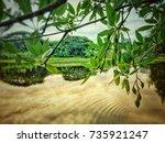 river landscape | Shutterstock . vector #735921247