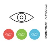eye vector outline single icon...
