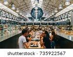 lisbon  portugal   august 12 ... | Shutterstock . vector #735922567