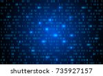 abstract technology binary code ... | Shutterstock .eps vector #735927157