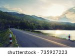 road and sunshine nature... | Shutterstock . vector #735927223