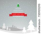 design christmas greeting card  ...   Shutterstock .eps vector #735935293