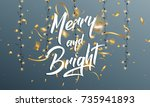christmas. greeting card with...   Shutterstock .eps vector #735941893