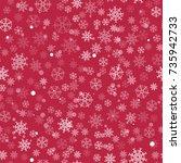 abstract christmas seamless...   Shutterstock .eps vector #735942733