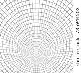 illustration of wireframe...   Shutterstock . vector #735944503