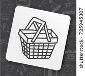doodle basket | Shutterstock .eps vector #735945307