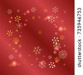 square christmas background...   Shutterstock .eps vector #735946753