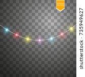 christmas lights isolated on...   Shutterstock .eps vector #735949627
