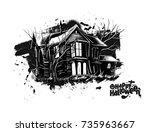 halloween   scary farmhouse...