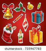 cartoon color illustration set...   Shutterstock .eps vector #735967783
