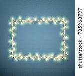 christmas lights concept....   Shutterstock .eps vector #735968797