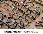 glasses  fashion eyewear at... | Shutterstock . vector #735971917
