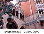 st. antoine catholic church in... | Shutterstock . vector #735972097