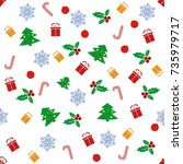 seamless pattern with with...   Shutterstock .eps vector #735979717