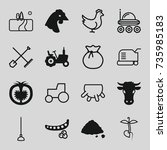 agriculture icons set. set of... | Shutterstock .eps vector #735985183