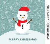 Snowman Vector Cartoon...