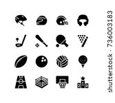 Headwear, bat, ball and playground - Miscellaneous icons