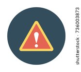 warning icon | Shutterstock .eps vector #736003873