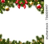 christmas border  | Shutterstock . vector #736005997