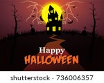 happy halloween | Shutterstock .eps vector #736006357