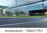 empty road with modern... | Shutterstock . vector #736017793
