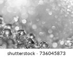 abstract silver christmas black ... | Shutterstock . vector #736045873
