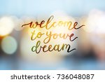 welcome to your dream  vector... | Shutterstock .eps vector #736048087