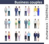 business couple  detailed... | Shutterstock .eps vector #736059613