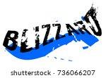 blizzard sticker. authentic...   Shutterstock .eps vector #736066207