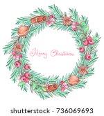 ink  pencil  watercolor... | Shutterstock . vector #736069693