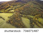 aerial drone view of colorful ... | Shutterstock . vector #736071487