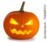 Small photo of Halloween Pumpkin isolated on white background