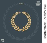 laurel wreath   design symbol | Shutterstock .eps vector #736099453