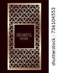 art deco ornamental vintage...   Shutterstock .eps vector #736104553
